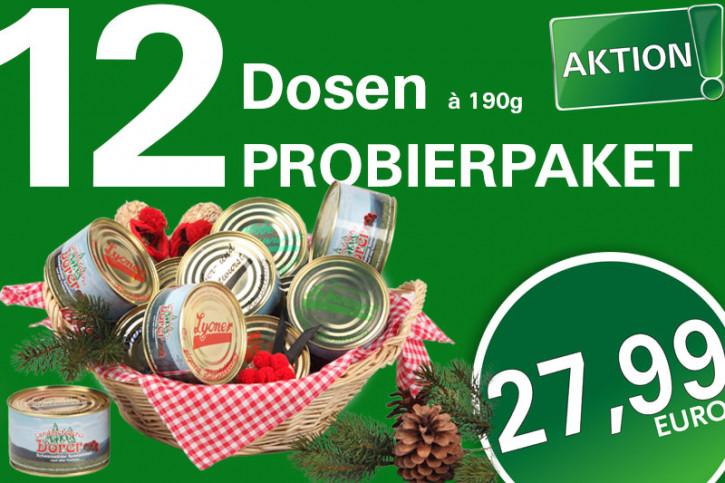 12 Dosen im Probierpaket <br>à 190g