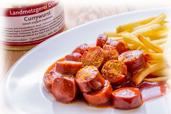 Currywurst 400g Dose